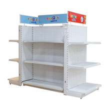 Wholesale Double Sides Particle Board Gondola Shelving