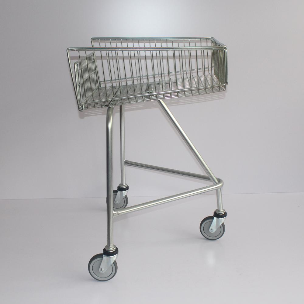 Shallow Shopping Trolley with Escalator Wheels Push Along