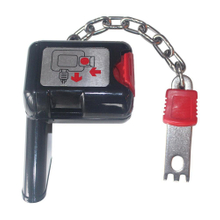 Supermarket Shopping Trolley Coin Locks with Metal Chain