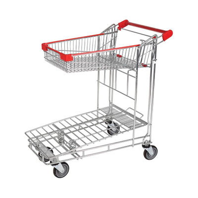 Supermarket Warehouse Moving Folding Hand Trolley