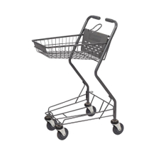Japanese Gray Supermarket Basket Cart Folding Hand Trolley