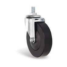 "4"" PVC Black Wheels with Axle for Supermarket Carts"