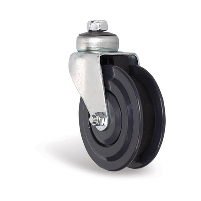 PU elevator casters shopping cart trolley in 2 blades