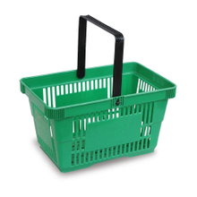 New Style Durable Plastic Supermarket Shopping Basket