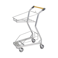 "4"" PU Wheel Cheap Shopping Trolleys Basket Storage Trolleys"