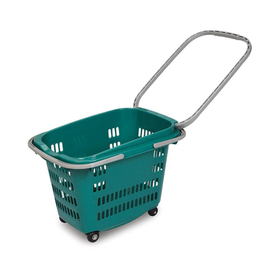 Supermarket Widely Use Colorful 55L Plastic Shopping Basket