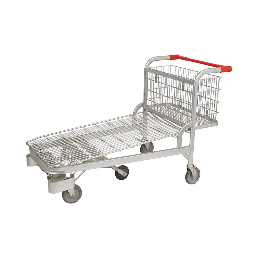 Heavy Duty Wire Foldable Warehouse Rolling Trolley Cart
