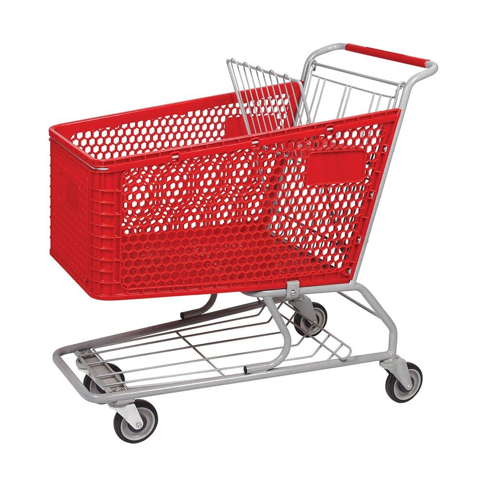 180L Good Quality Plastic Shopping Trolley for Supermarket