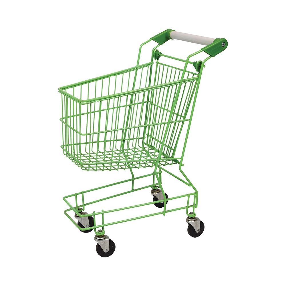Combination of Steel Plastic Child Supermarket Shopping Trolley
