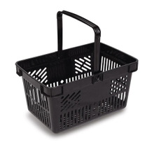 Custom Available Red Shopping Basket with Metal Handle