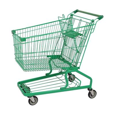 150L German Green Coated Shopping Trolley Manufacturer