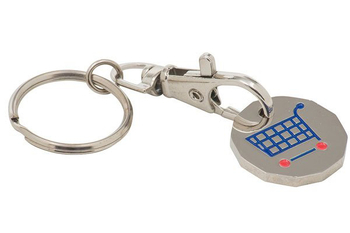 Promote your brand with Trolley coil keyring