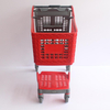 100L Durable Lightweight Wholly Plastic Carts for Supermarket