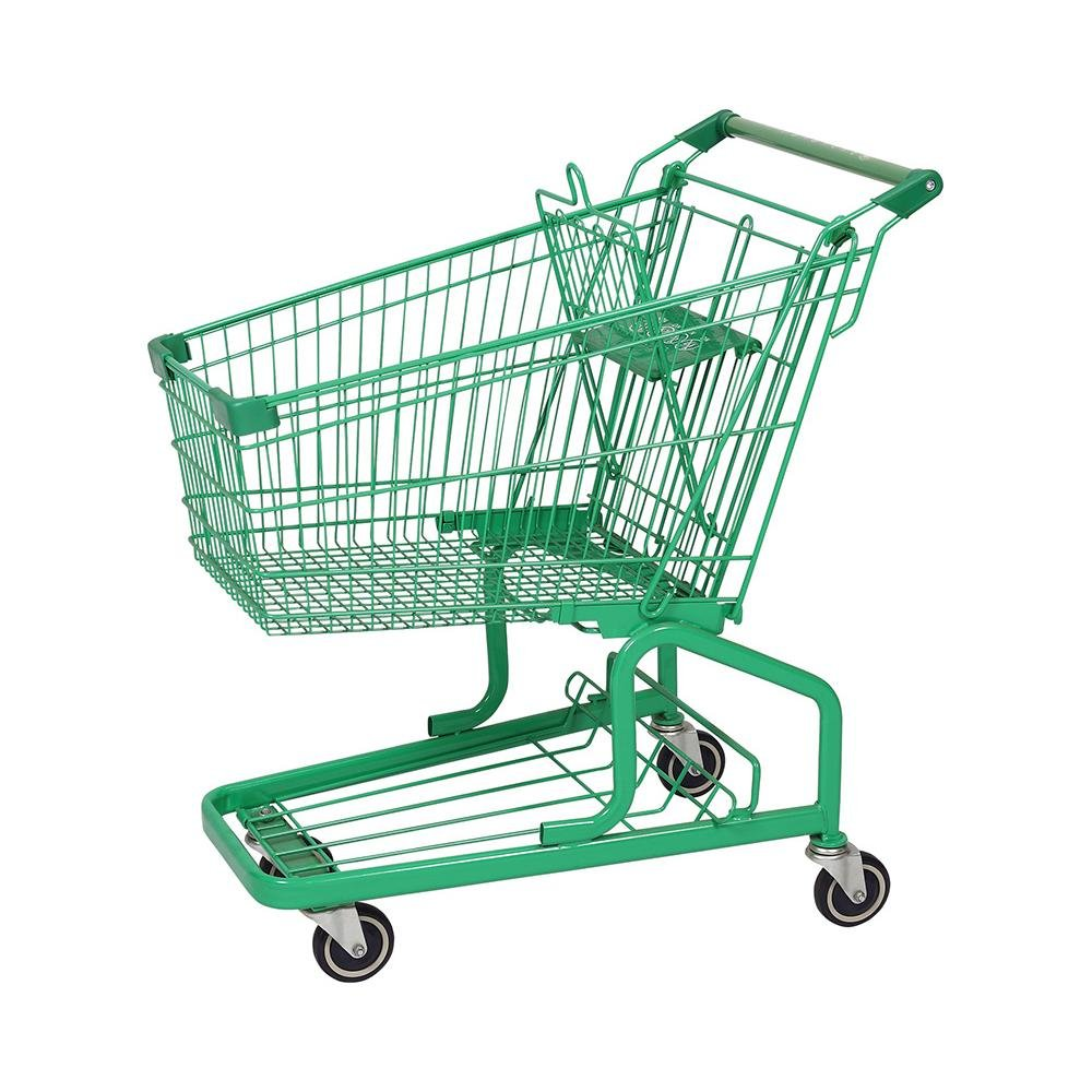 100L German Multifunction Supermarket Storge Shopping Cart