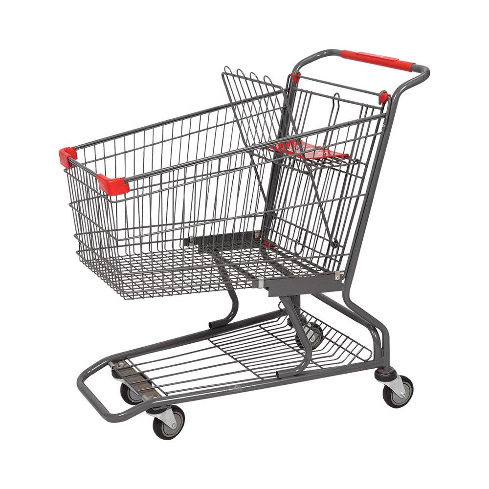 Uk 4 Wheel Rolser Promotional Hand Push Shopping Trolley