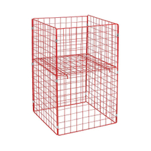 Collapsible Logistics Storage Trolley Supermarket Rolling Container